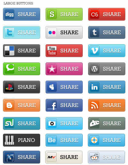 Free Social Bookmarking Share Buttons