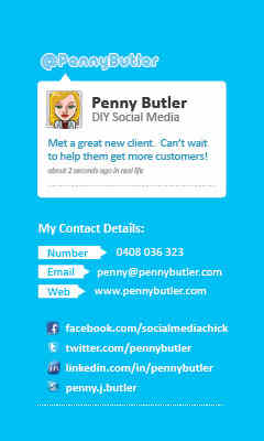 Penny Butler Business Card