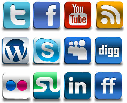 Social Networking Professional Clean Cut Graphic Icons