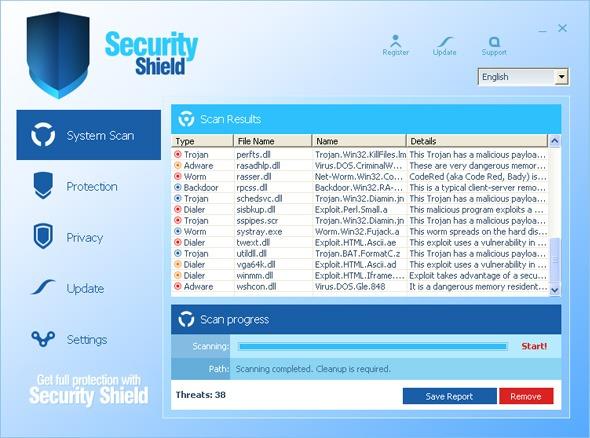 security shield virus