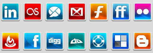 modern social network icons