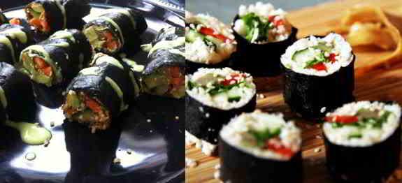 Raw Cauliflower Sushi Rolls