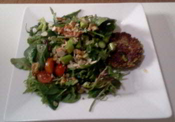 salad as the main