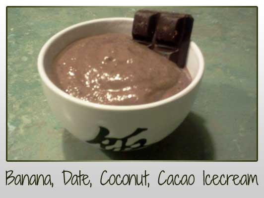 Banana Cacao Date Coconut Icecream