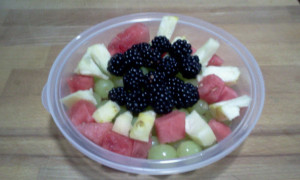 Blackberries, Watermelon, Pineapple, Grapes