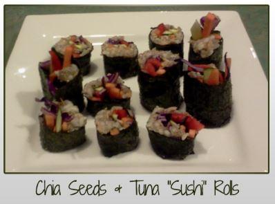 Chia Seeds, Tuna, Sushi Rolls