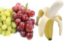 White Grapes Red Grapes Banana (source: Web)