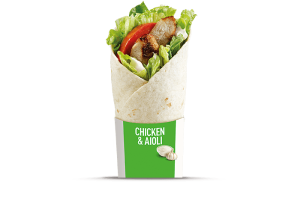 McD Grilled Chicken Aioli Wrap