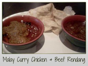 Malay Curry Chicken and Beef Rendang