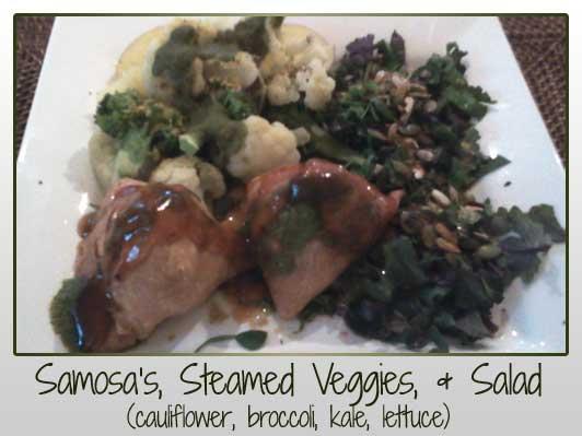 Somosas Steamed Veggies Salad