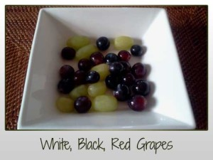 White Black and Red Grapes