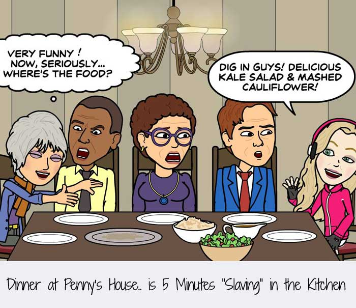 """Dinner at Penny's House.. is 5 Minutes """"Slaving"""" in the Kitchen"""