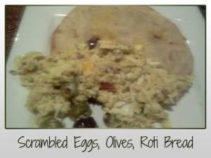 scrambled eggs roti