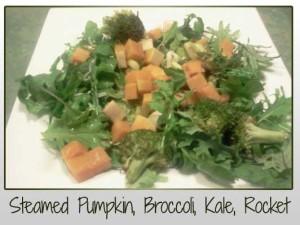 Steamed Pumpkin, Kale, Rocket