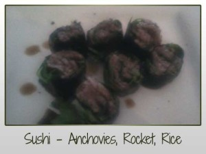 Sushi Anchovies, Rocket, Black Wild Rice, Sushi Rice, Quinoa, Baby Rocket, Amino Acids