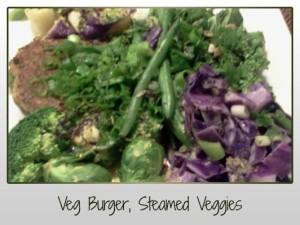 Veg Burger, Steamed Veg
