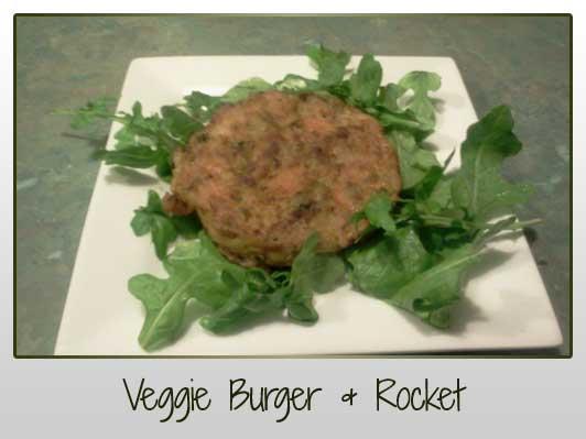 Veggie Burger & Rocket