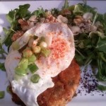 Veg Burger, Egg, Salad, Nuts, Seeds