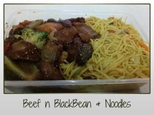 Beef n BlackBean & Noodles
