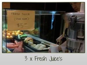 3 x Fresh Juices