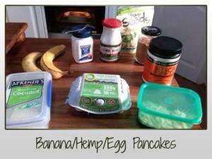 Banana Hemp Egg Pancakes