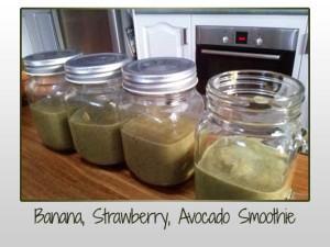 Banana Strawberry Avocado Smoothie