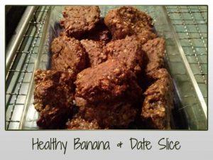 Healthy Banana & Date Slice
