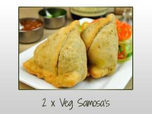 2 x Veg Samosa's