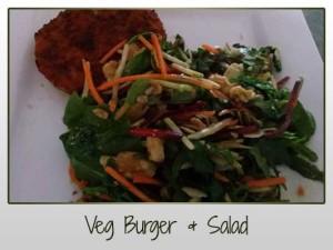 Veg Burger Salad