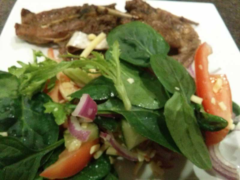 Lamb Chops & Greek Salad