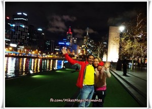 Penny & Mike hanging out in Melbourne CBD
