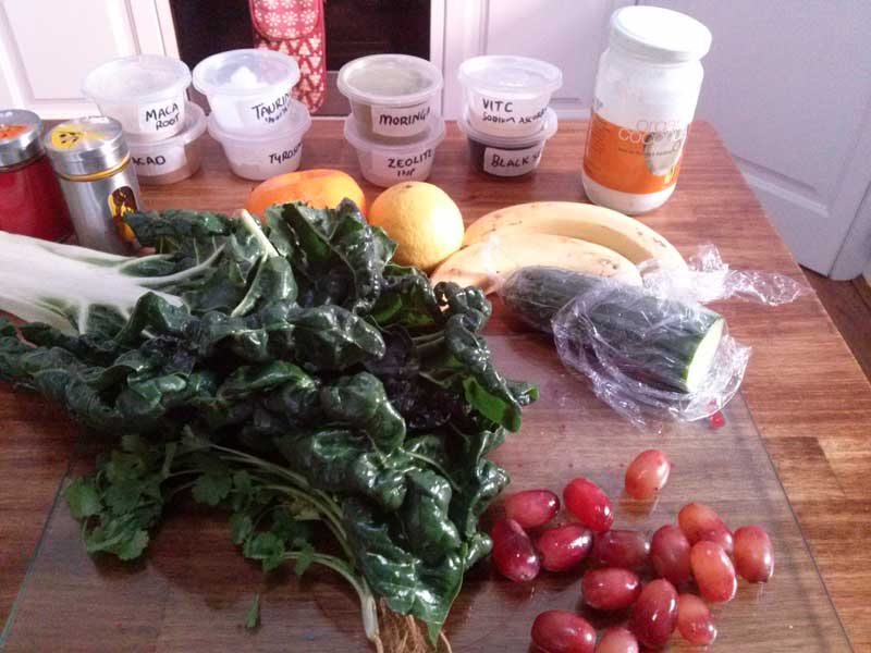 Silverbeet Combo Green Smoothie Ingredients