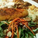 Chicken, Russian Salad, LeftOvers