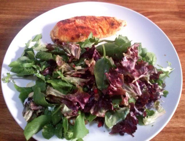Chicken Tender, Mixed Lettuce