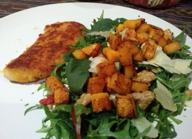 Chicken Tender, Pumpkin, Salad