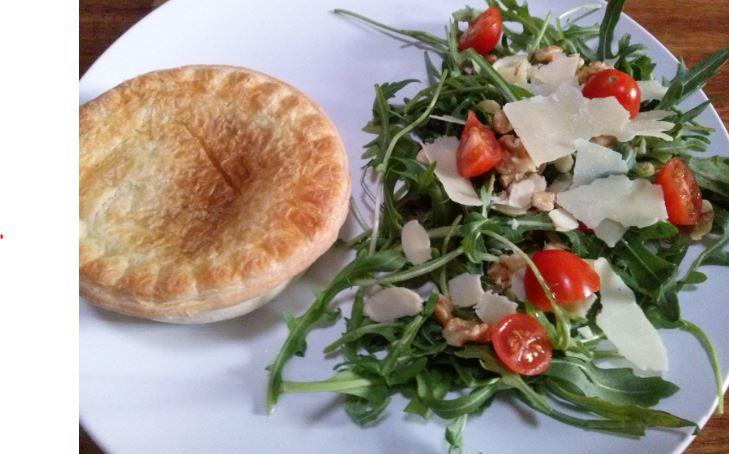 Meat Pie, Salad