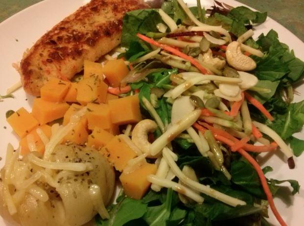 Chicken Tender, Salad