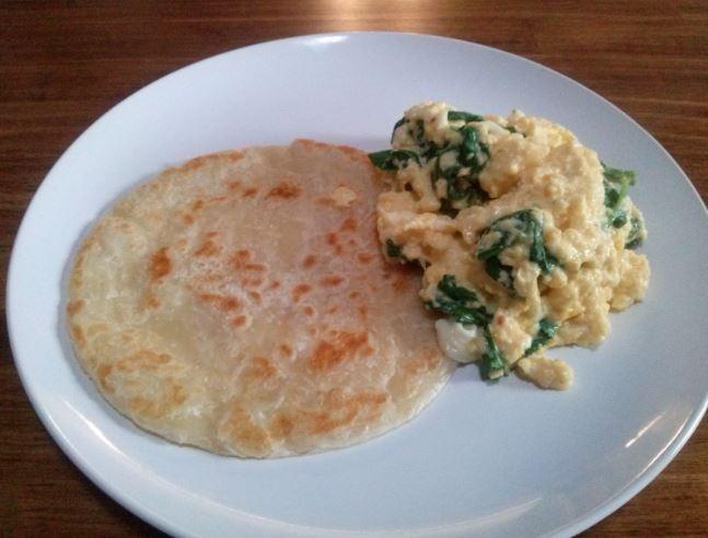Scrambled Eggs, Roti