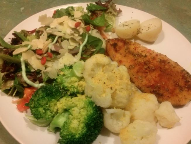 Chicken Tender, Veg, Salad