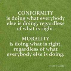 [QA] Conformity vs Morality