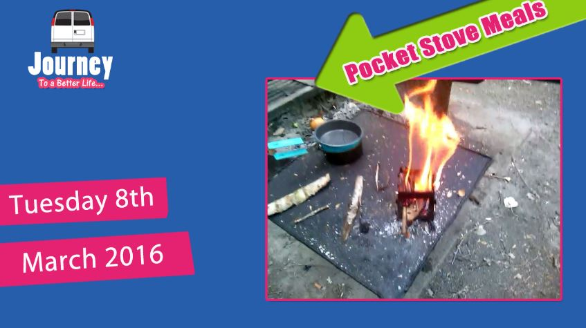 Pocket Stove Test (2 Camp Meals - grilled pumpkin & poached eggs)