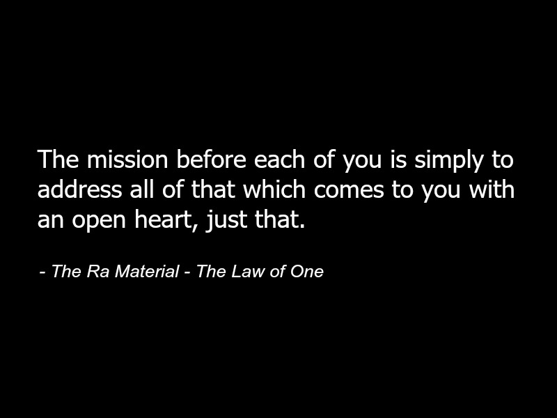 [Ra] Law of One - Why its hard to stay positive
