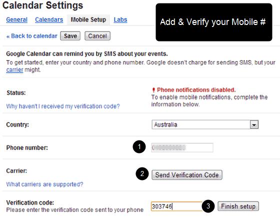 Affirmations via SMS (using Google Calendar)