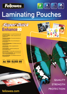 A4 Glossy 80 Micron Laminating Pouches – 100 pack (New Unopened)