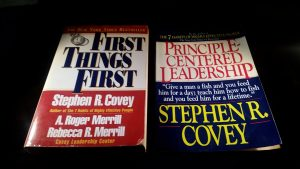 Stephen Covey Books (First Things First & Principle-Centered Leadership)
